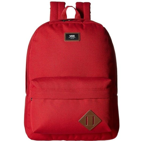 Vans Old Skool II Backpack (Chili Pepper) Backpack Bags ($45) ❤ liked on Polyvore featuring men's fashion, men's bags, men's backpacks and mens one strap backpack