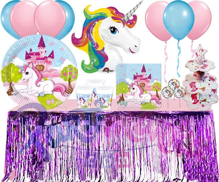 Unicorn Temalı Parti Seti Lüks 8 Kişilik