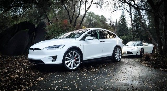 2016 Tesla Model X with 2011 Tesla Roadster Sport, photographed by owner Bonnie…