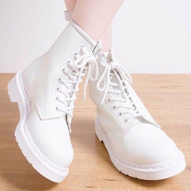 Cтильные белые ботинки Dr.Martens #МАРТЕНС #БОТИНКИ #DRMARTENS
