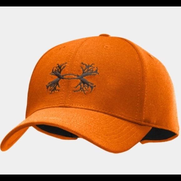 Nwot. Under armour Blaze orange hunting hat Antler logo. Color best shown in 2-4th pics. Like new, worn for a few hours. Under Armour Accessories Hats