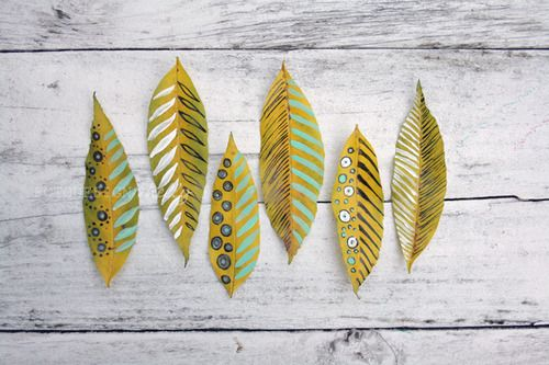 5 Autumn Crafts Ideas Made with Leaves - Petit & Small