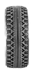 Gallery wedding ring in sterling silver