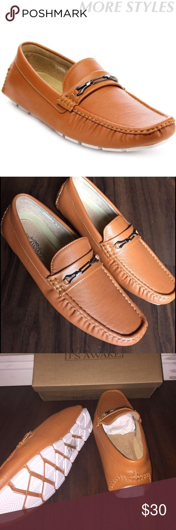 J'S AWAKE MEN MOCCASSIN BRAND NEW WITH BOX.                                               Faux leather, comfortable men moccassin. Shoes Loafers & Slip-Ons