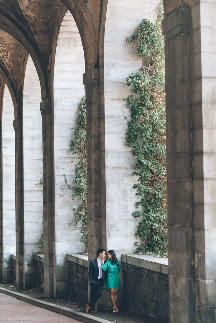 Engagement session at Fort Tryon Park. Captured by NYC wedding photographer.