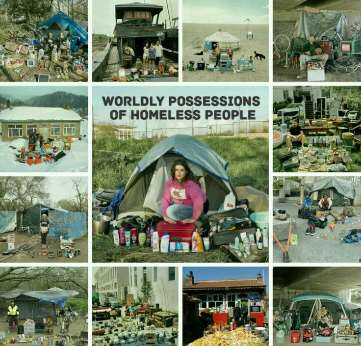 Wordly possessions of homeless people