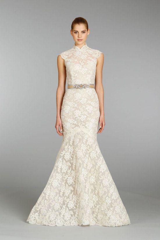 Lazaro mermaid and lace wedding gown 2013 bridal for Lazaro lace wedding dress