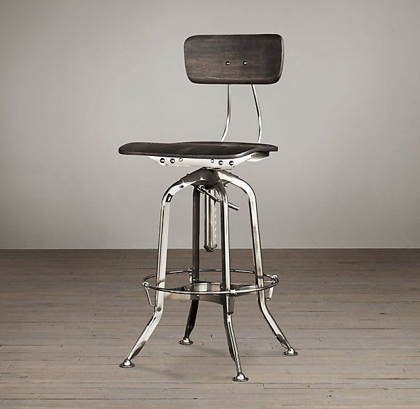 Possible Kitchen Island Bar Chair Vintage Toledo Bar Chair from Restoration Hardware