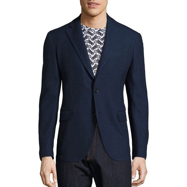 Salvatore Ferragamo Slim-Fit Deconstructed Wool Blazer ($1,350) ❤ liked on Polyvore featuring men's fashion, men's clothing, men's sportcoats, men luxury coll - ferragamo, mens blazers, men's apparel, mens wool blazer, mens slim blazer and slim fit mens clothing