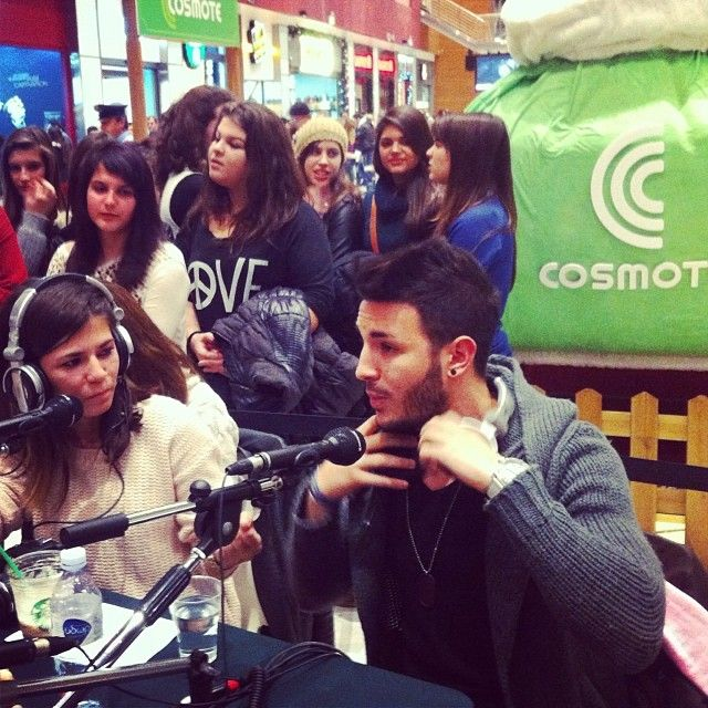 """@TheMallAthens #interview #radio  #usmile #people"""