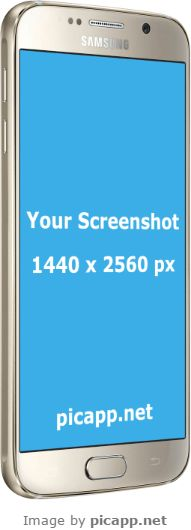 Use this beautiful, gold Samsung Galaxy S6 in a great perspective to present your new android app to the world. Put your app screenshot easy and fast in this Samsung Galaxy S6 with Picapp.net. All you have to do is to upload you screenshot and Picapp.net makes the magic for you. Try it and tell us what you think. We are friendly people :). #samsungS6 #nobackground #samsungGold #mock #samsung #picapp #customers #perspective