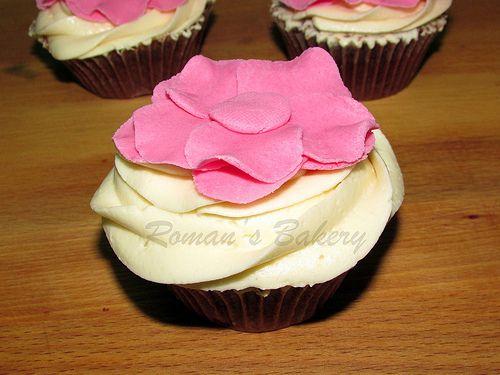 flower Cupcake / Cupcakes de flores