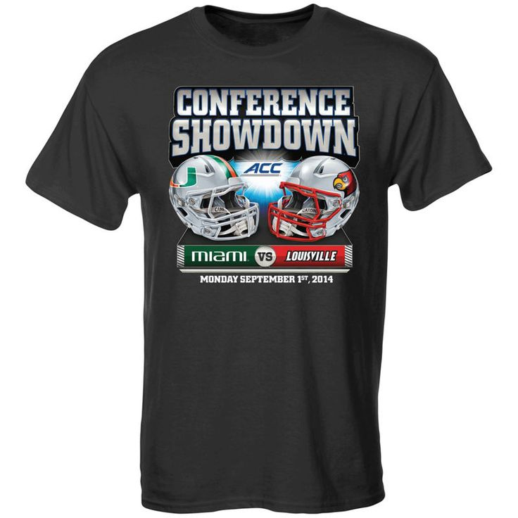 Miami Hurricanes vs. Louisville Cardinals 2014 Game Day T-Shirt - Gray