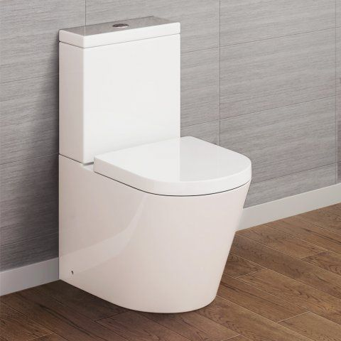Lyon II Close Coupled Toilet & Cistern inc Luxury Soft Close Seat