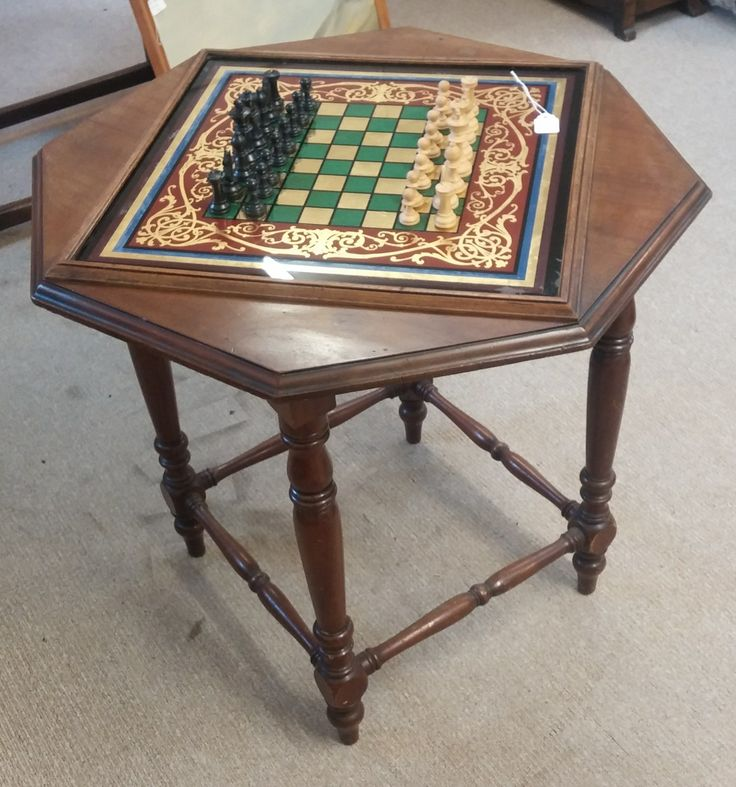 Mahogany glass top game table which has already had some interest over the weekend.