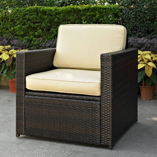 Crosley Palm Harbor Outdoor Wicker Chair - Wicker Chairs & Seating at Hayneedle, $219