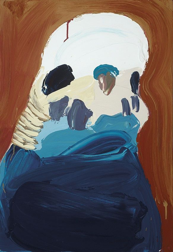 Another top fat budgie, by Ben Quilty. Untitled (Budgie), 2005.
