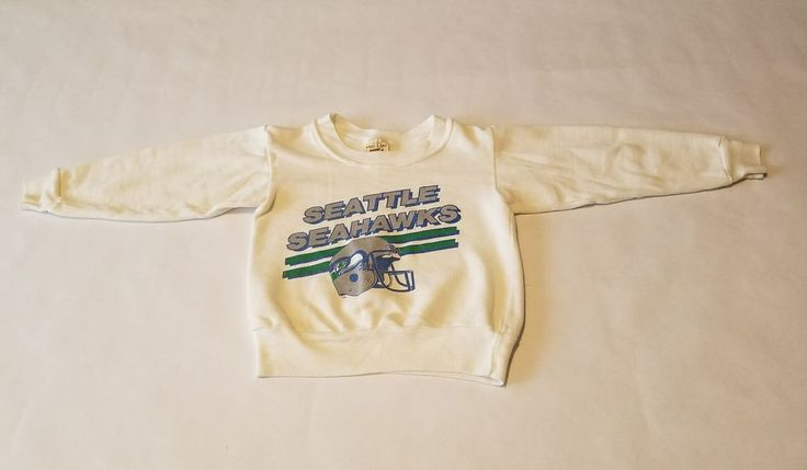 VINTAGE 80s Logo 7 Inc Toddler Seattle Seahawks NFL Sweatshirt Made USA  | Clothing, Shoes & Accessories, Vintage, Children's Vintage Clothing | eBay!