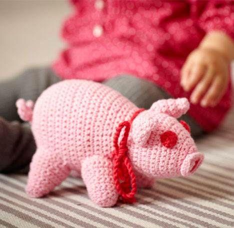 Sød hæklet gris fra Hendes Verden