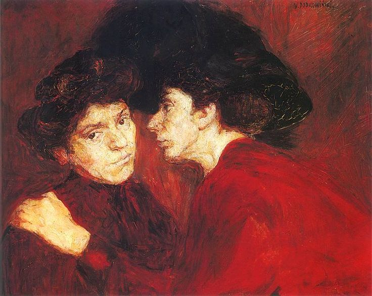 Wladyslaw Podkowinski.La conversa, 1894.