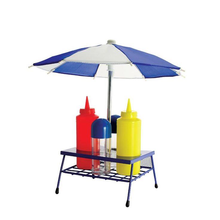 Umbrella BBQ Condiment Set