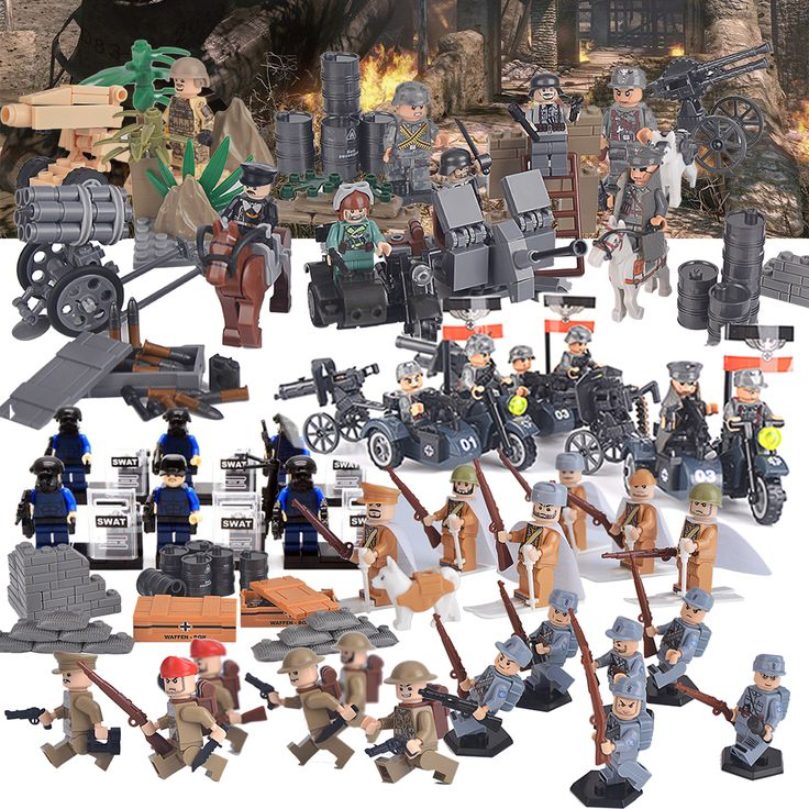 SWAT Military Riot Special Weapons and Tactics Figure Super Hero Kid Toy figures Brick Compatible with Lego