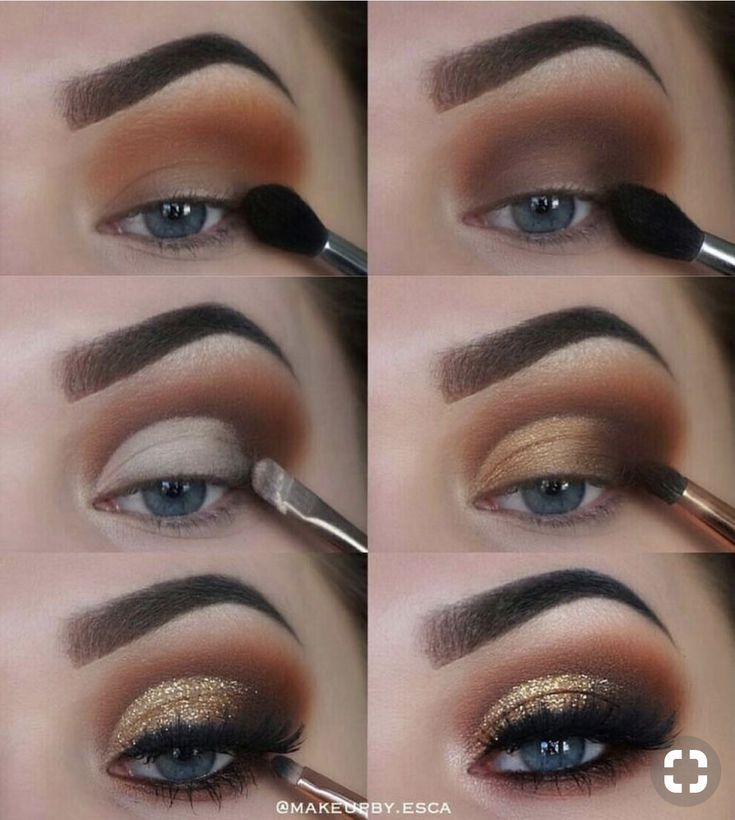 Brown Eye Make-up aussehen. Brown Eye Make-up Tutorial Schritt für Schritt das perfekte Auge ma