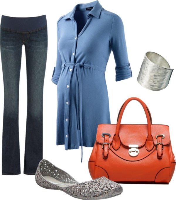 """""""Blue Casual"""" by pregnantchicken on Polyvore #Maternity"""