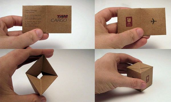It can be folded and flipped to form a box: Little Boxes, Unique Business Cards, Creative Business Cards, Inspiration, Businesscarddesign, Graphics Design, Cards Boxes, Blog, Business Cards Design