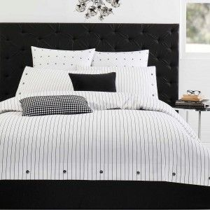 Black and white always a favouite in bedding collections, can help you transform your bedroom to portray many different styles of decor & the Comme Quilt Cover Set from Designers Choice will take your sleep style to a new level.