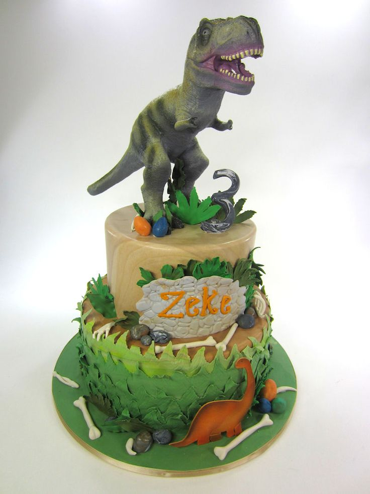 T Rex Cake Decorating