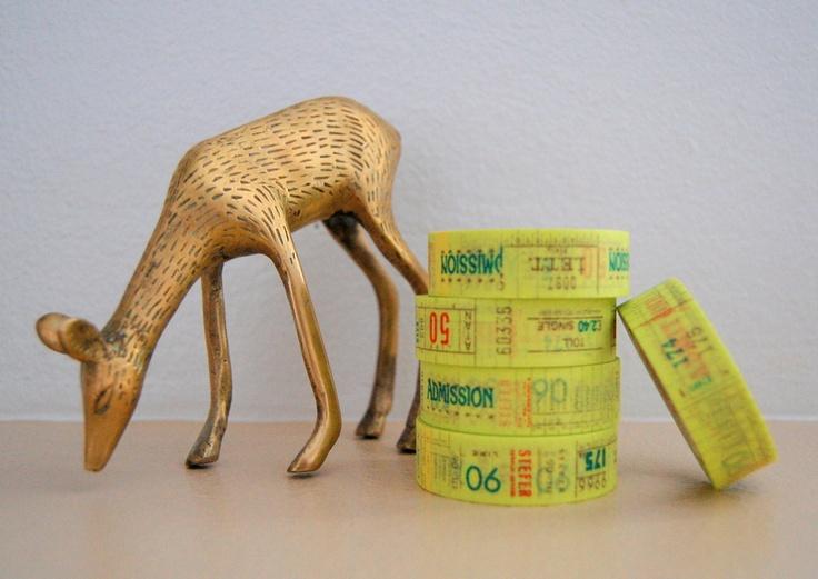 Vintage Ticket Stub Washi Tape   Freckled Fawn