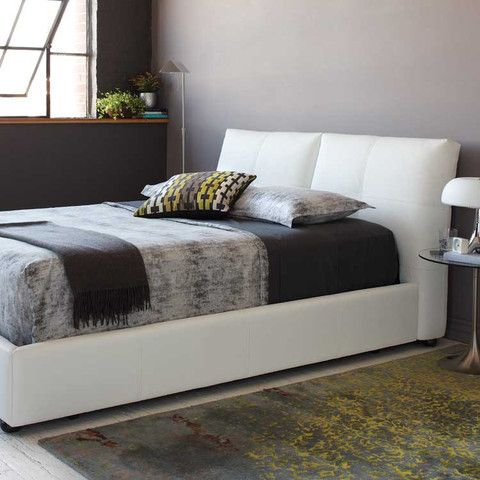 Kasala - Modern affordable leather platform bed - Furniture stores Seattle
