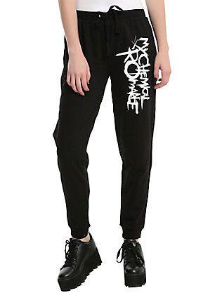 My Chemical Romance Logo Girls Jogger Pants, BLACK