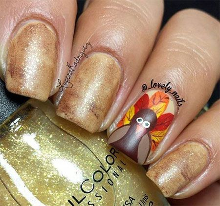 I am providing a post of 18 Turkey nail art designs & ideas of these Thanksgiving  nails are worth seeing that you would love to look at. - 42 Best Turkey Nail Art Images On Pinterest Autumn Nails