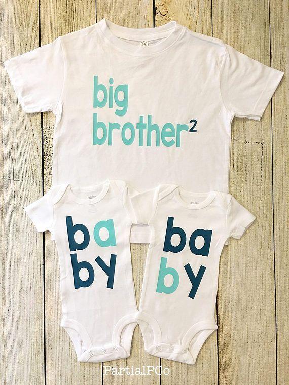 Zwillinge Schwangerschaft Ankündigung Bodysuits, Baby A und B, Baby-Dusche, Com … – schwanger bekanntgabe – Schwanger