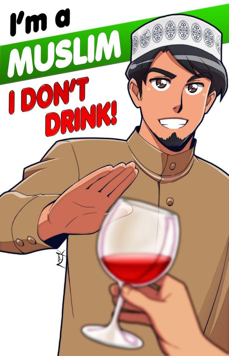 I'm a Muslim. I don't drink by Nayzak.deviantart.com on @DeviantArt