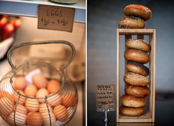 Bagels never look so good.   The Woodsman Tavern and Market in Portland, OR : Remodelista