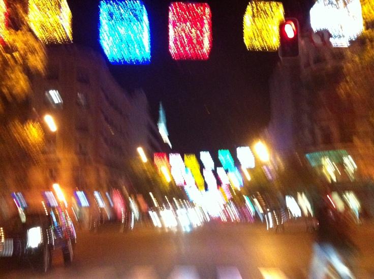 Navidad del 2012 en las calles de Madrid.