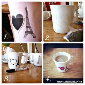 221 best diy painted mugs images on pinterest painted for Craft smart paint pen on mugs