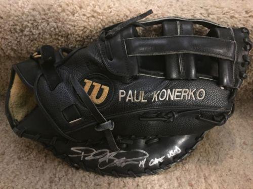 Paul Konerko Signed Game Used Fielding Glove.  Wilson A2000