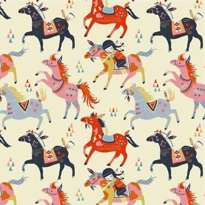 Pony fabric print | Miriam Bos / Birch Fabrics
