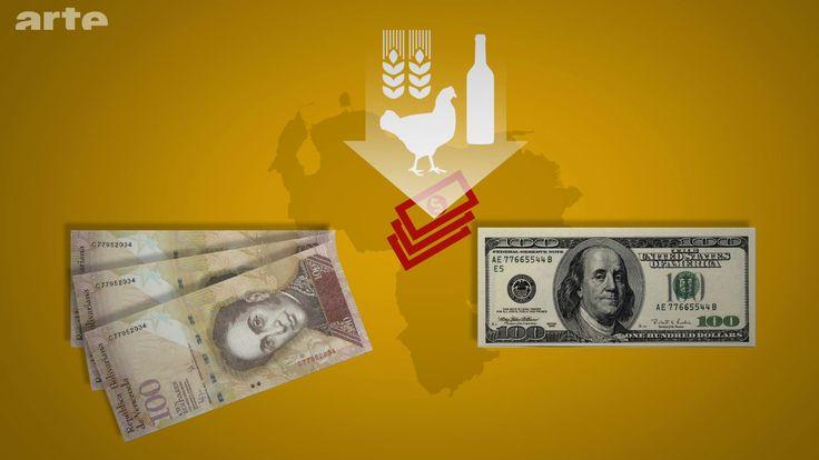 LE CONTRÔLE DES CHANGES ENTRE LE BOLIVAR ET LE DOLLAR Car en 2003, un strict contrôle des changes entre le bolivar et le dollar a été instauré. Cela favorise la mise en place d'un marché noir du dollar et augmente le cours de cette monnaie sur le marché parallèle, entraînant une hausse des prix des produits importés, qui sont réglés en dollars. Or, le prix de certains produits est plafonné au Venezuela, si bien qu'il n'est plus rentable de vendre ces produits.