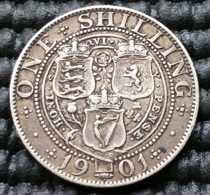 R51 1901 Queen Victoria Silver One Shilling Coin Km 780