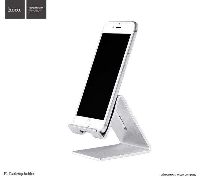 ORIGINAL HOCO desktop holder P1 Mobile phone aluminum stand for iPhone Ipad Samsung convenient silicagel pads free shipping