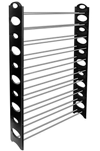 OxGord 50-Pair Shoe Rack Storage Organizer, 10-Tier Portable Wardrobe Closet Bench Tower Stackable, Adjustable Shelf - Strong & Sturdy Space Saver Wont Weaken or Collapse - Black by OxGord via https://www.bittopper.com/item/oxgord-50-pair-shoe-rack-storage-organizer-10-tier/