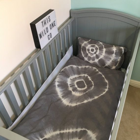Tie dye cot bed toddler bedding. duvet or fitted by ThisWildOneCo