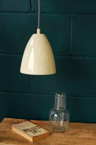 Cream Ceramic Ceiling Light with Ceiling Rose 16 dia x 18 £60 rockett st george