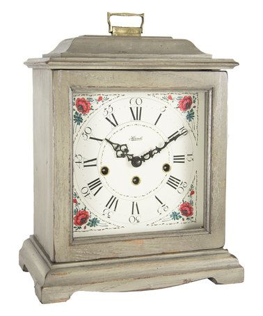 Another great find on #zulily! Beige Bracket Wood Mantel Clock #zulilyfinds