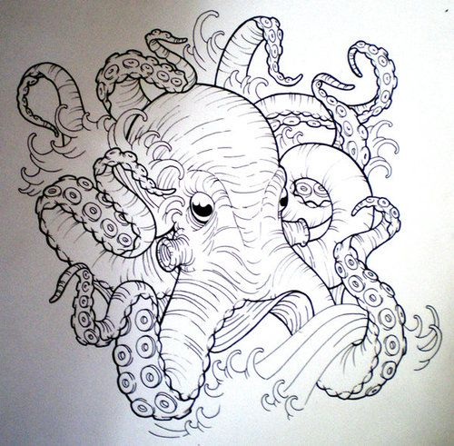 Maybe a bit smoother in texture though. tumblr mflwk3llr41s0hhjro1 500 Octopus Tattoo Drawings